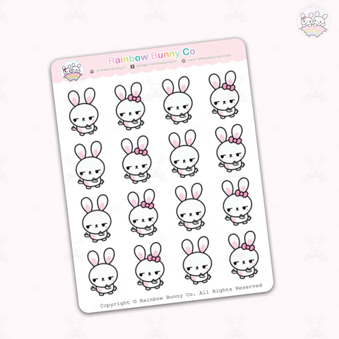 Binky & FooFoo Middle Finger - Sticker Sheet