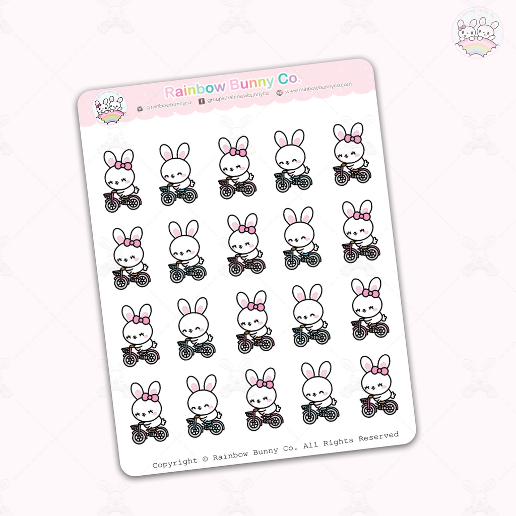Binky & Foo Foo Biking - Sticker Sheet