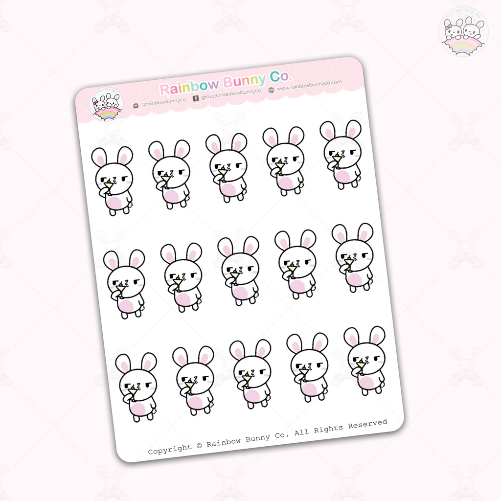 "Binky ""Too sober for this""  - Chonky Version - Sticker Sheet"