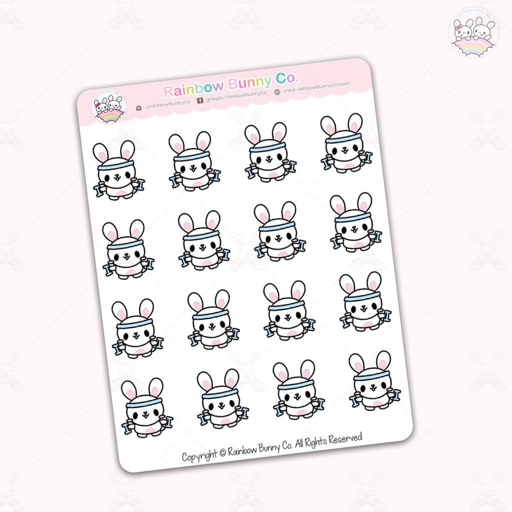 Workout Binky - Chonky Version - Sticker Sheet