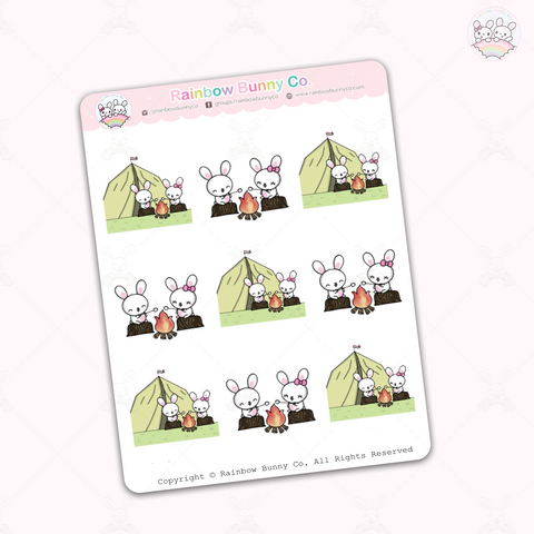Binky & Foo Foo Camping - Sticker Sheet