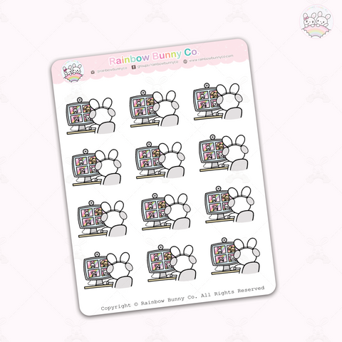 Binky Video Call - Sticker Sheet