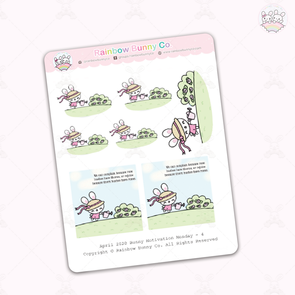 Foo Foo Roses Quote - Sticker Sheet