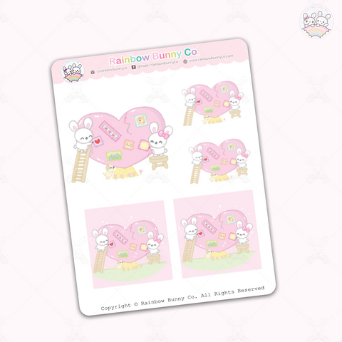 Binky & Foo Foo Healing - Sticker Sheet