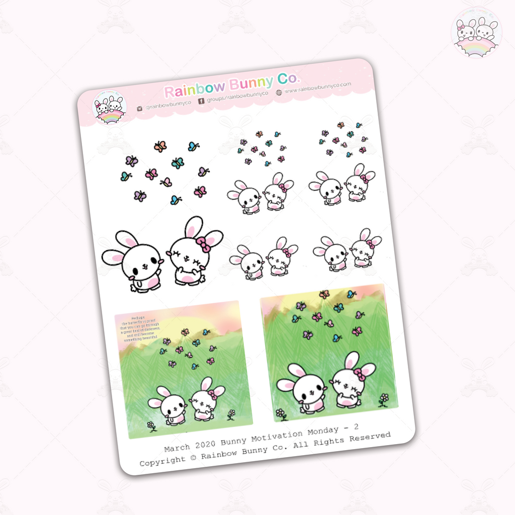Binky & FooFoo Butterfly Quote - Sticker Sheet