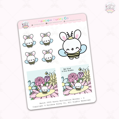 Binky Bee Quote - Sticker Sheet