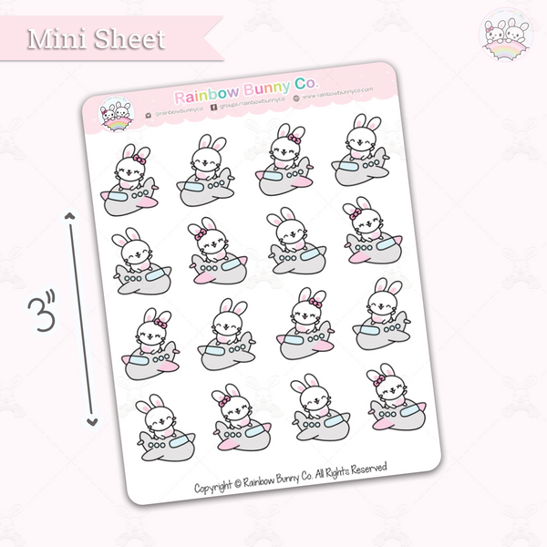 Binky & Foo Foo Travel - Chonky Version - Mini Sticker Sheet