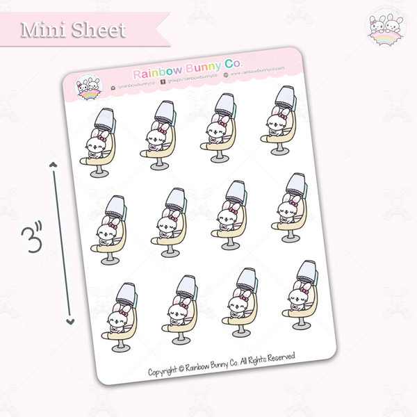 Foo Foo Hair Salon Day - Chonky Version - Mini Sticker Sheet