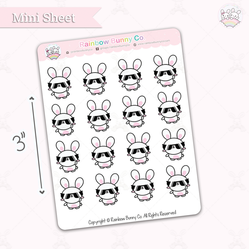 Binky Boss - Chonky Version - Mini Sticker Sheet