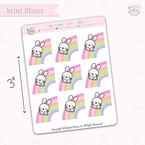 Binky Over the Rainbow - Chonky Version - Mini Sticker Sheet