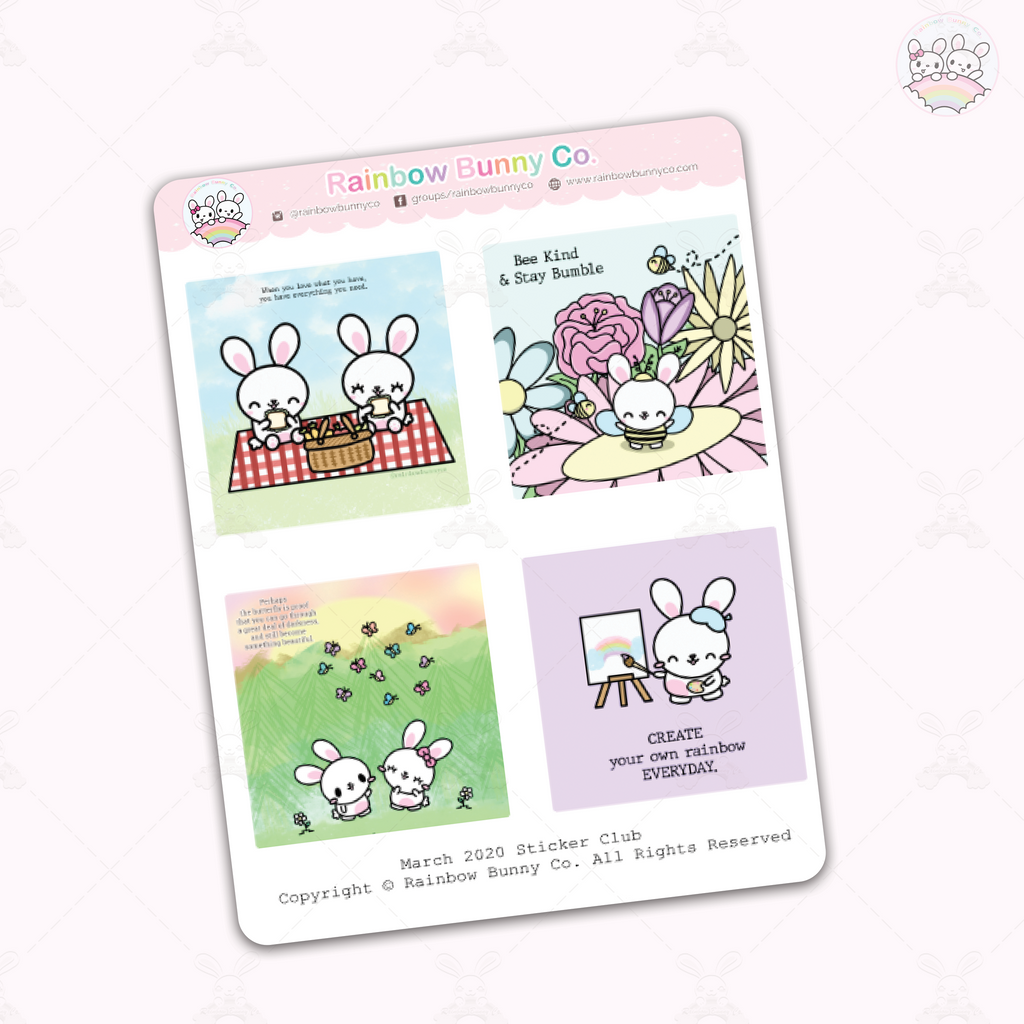 March 2020 Quotes - Sticker Sheet