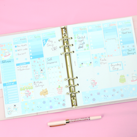 Winter Collection - Foiled Vertical Planner Sticker Kit
