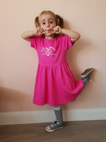 Hand Heart Dress - Hello Pickle!
