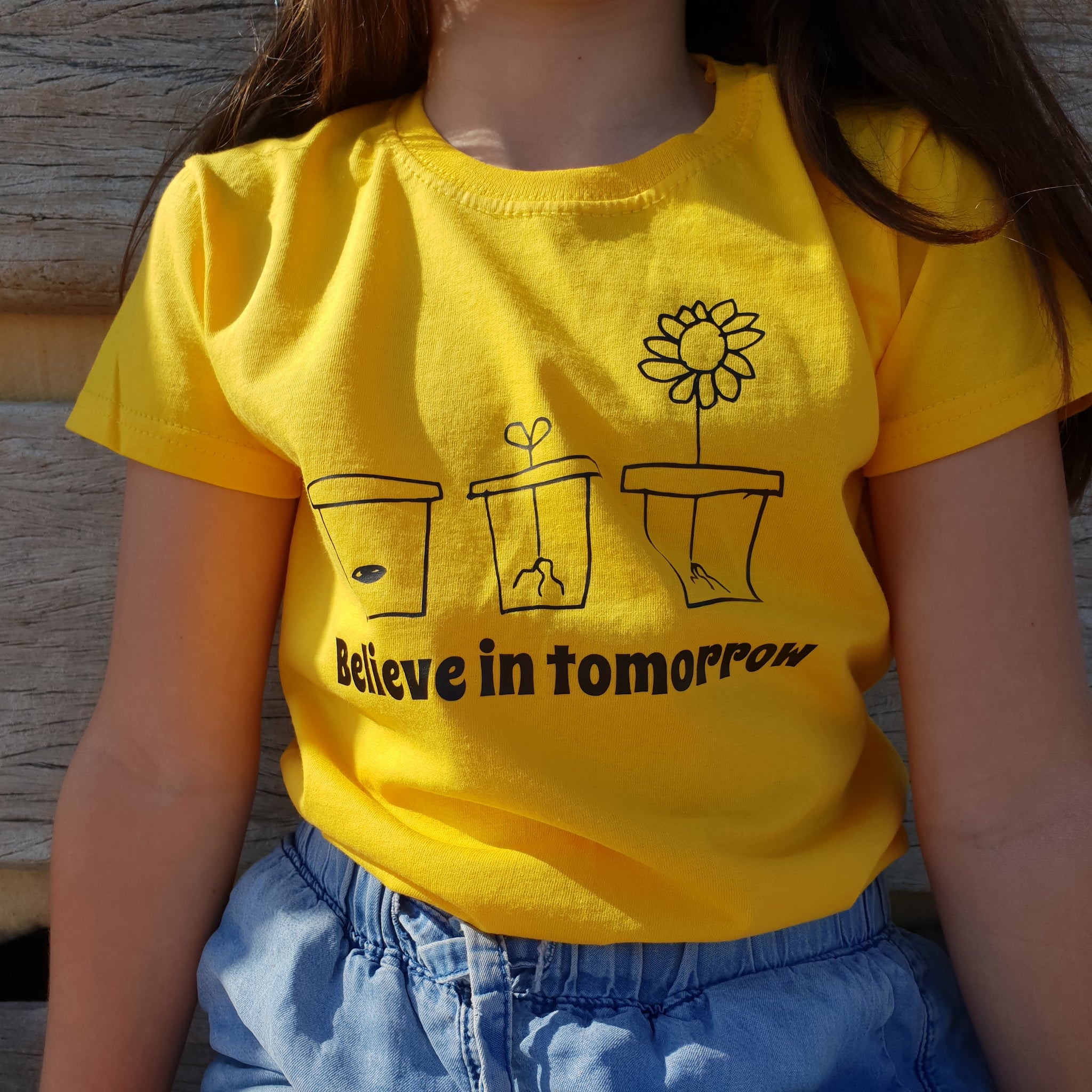 Believe in tomorrow Kids Tshirt
