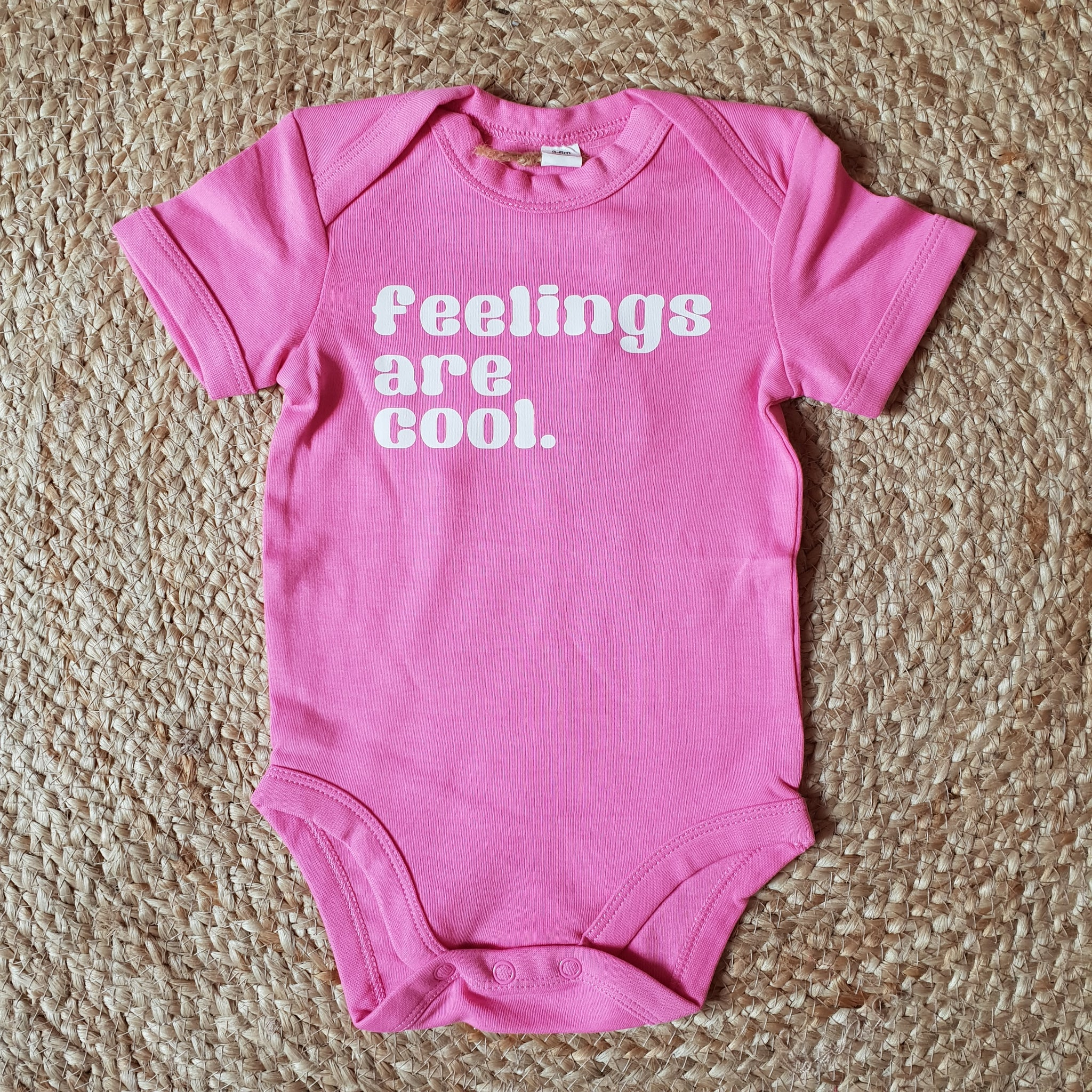 Feelings are cool vest 3-6m Pink