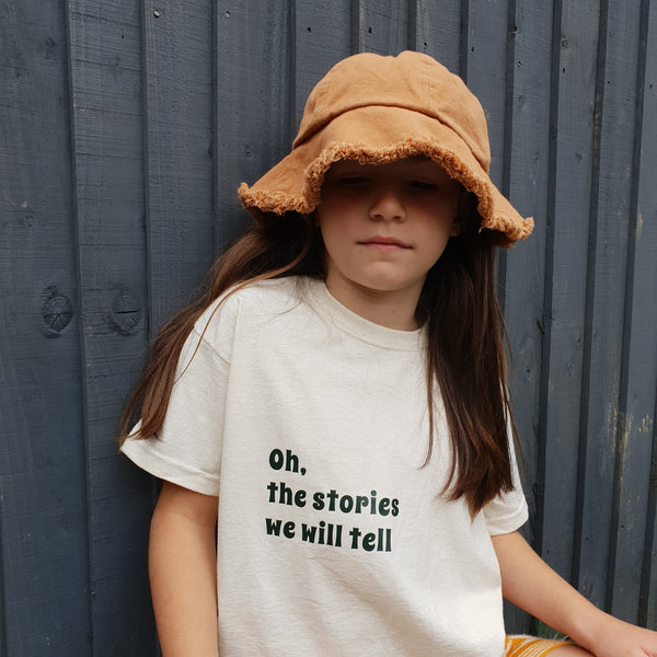 Oh the stories we will tell Kids Tshirt