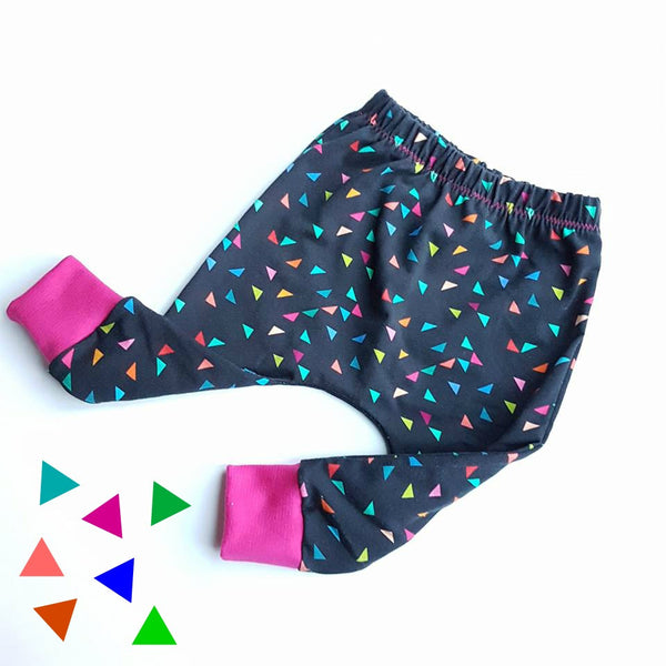 Colourful Triangle Confetti  Harems 6-9 Ready to Ship - Hello Pickle!