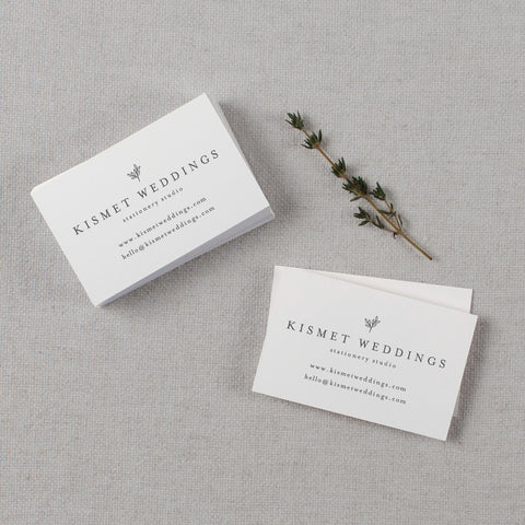 kismet weddings business cards