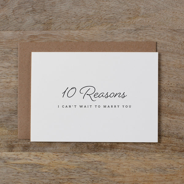 10 REASONS I CAN'T WAIT TO MARRY YOU - madeleine