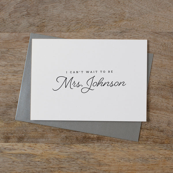 CUSTOM MRS CARD - madeleine