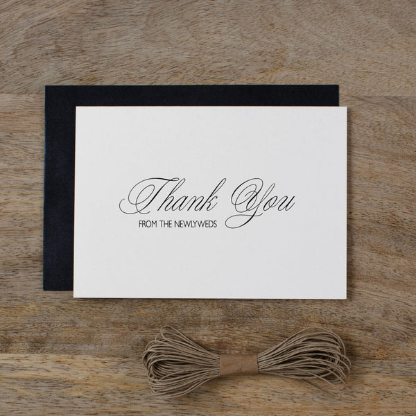 THANK YOU FROM THE NEWLYWEDS CARD - rose