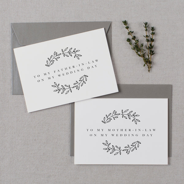 WEDDING CARDS TO IN-LAWS - adelaide
