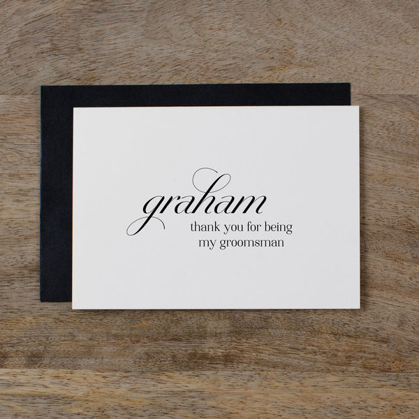 PERSONALISED THANK YOU FOR BEING MY GROOMSMAN - dorothy