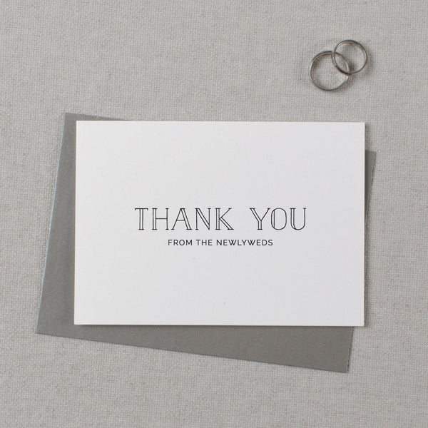 THANK YOU FROM THE NEWLYWEDS CARD - matilda