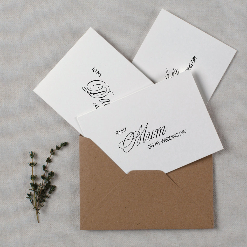 WEDDING CARD TO FAMILY - rose