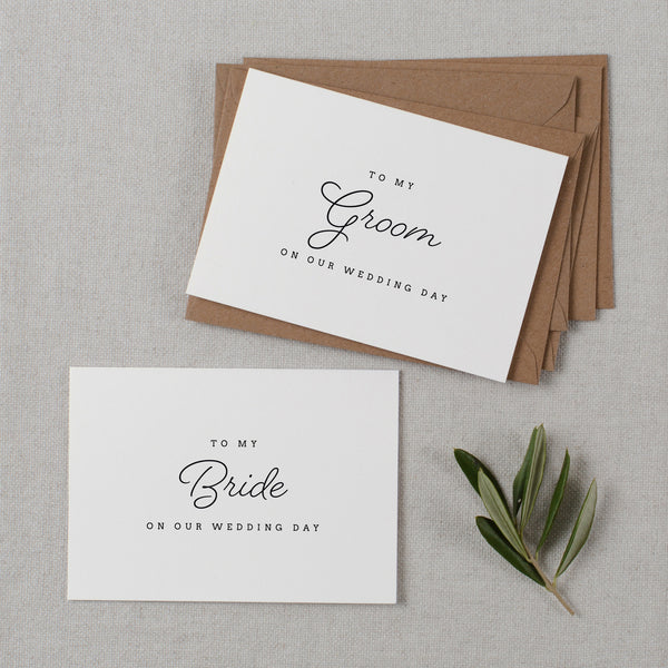 BRIDE AND GROOM CARDS - madeleine