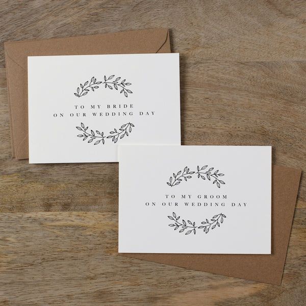 BRIDE AND GROOM CARDS - adelaide