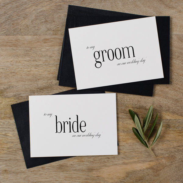 BRIDE AND GROOM CARDS - edith