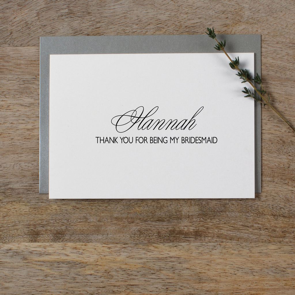 PERSONALISED THANK YOU FOR BEING MY BRIDESMAID - rose