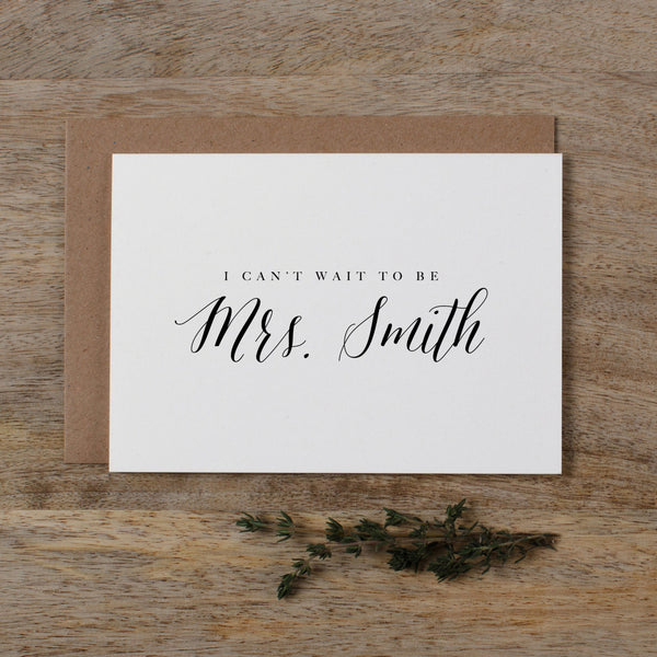 CUSTOM MRS CARD - harriet