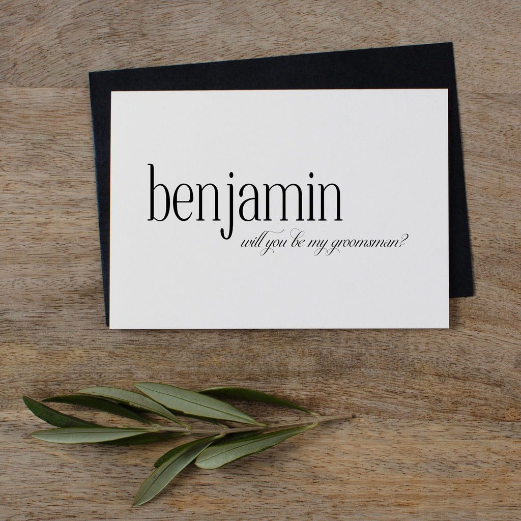 PERSONALISED WILL YOU BE MY GROOMSMAN - edith