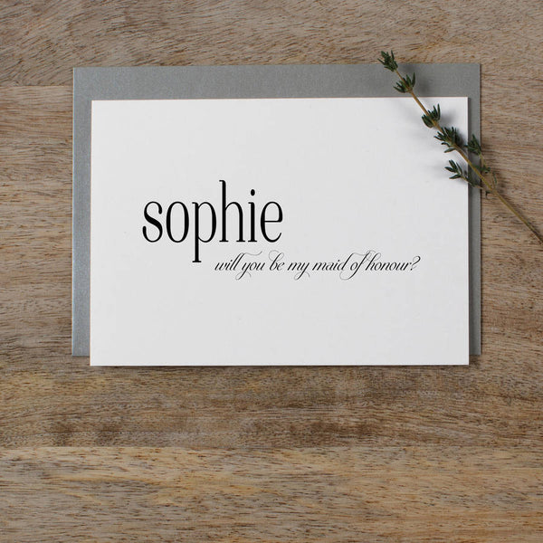PERSONALISED WILL YOU BE MY BRIDESMAID - edith