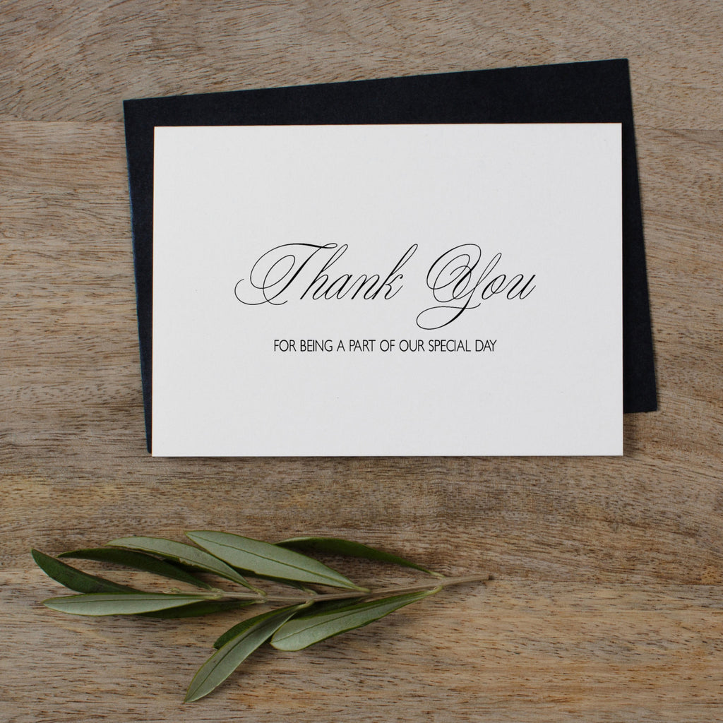 THANK YOU CARDS - SET OF 5 - rose