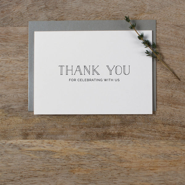 THANK YOU FOR CELEBRATING WITH US CARD - matilda