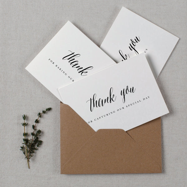 WEDDING VENDOR THANK YOU CARDS - harriet