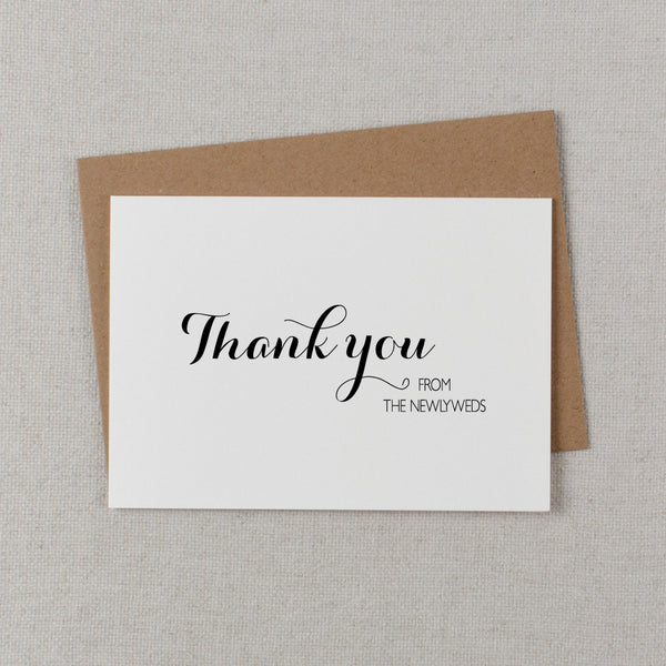 THANK YOU FROM THE NEWLYWEDS CARD - audrey