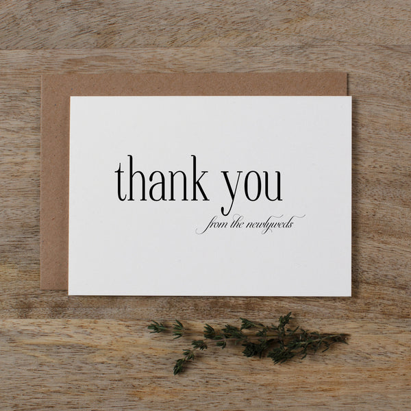 THANK YOU FROM THE NEWLYWEDS CARD - edith