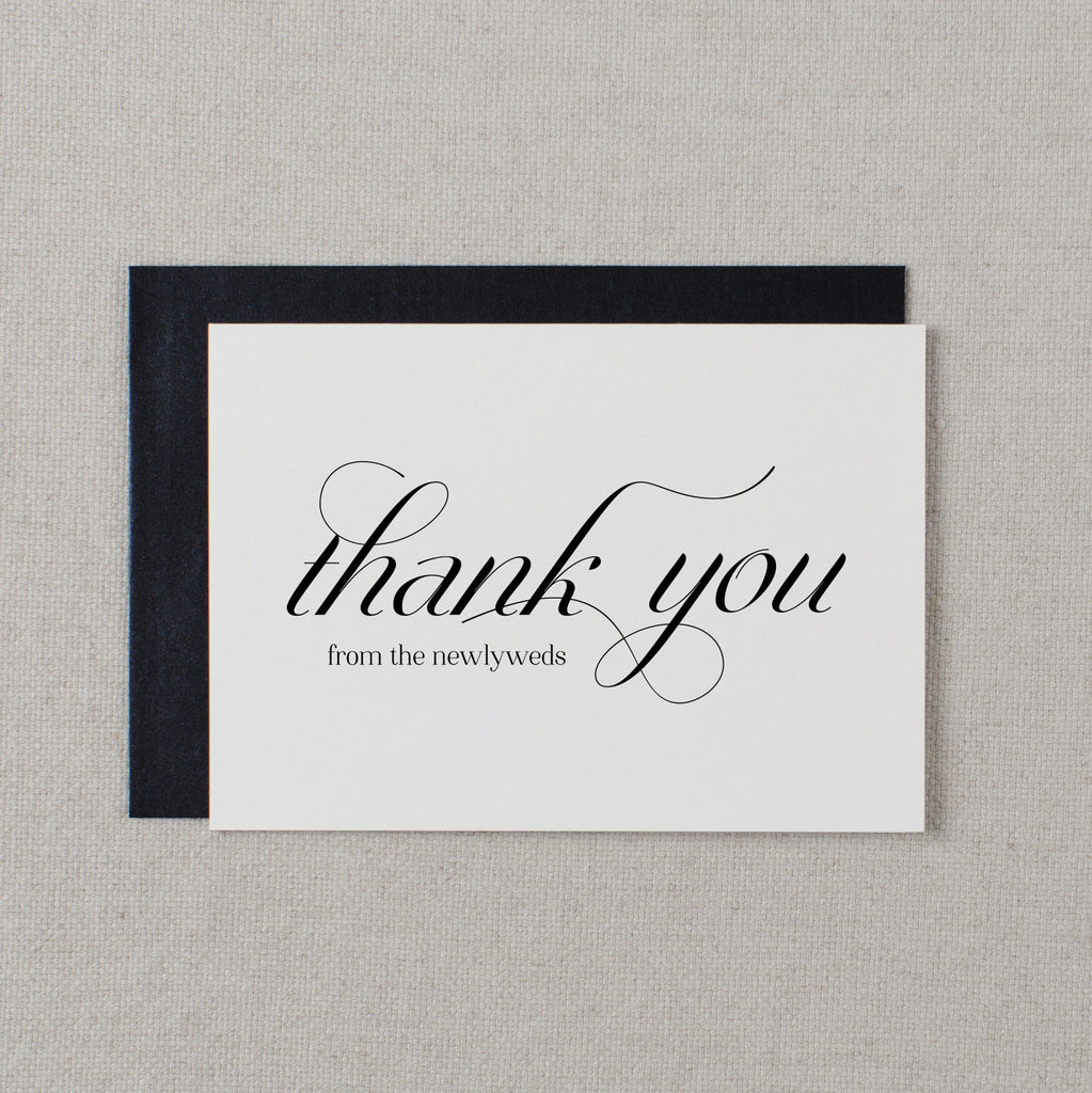THANK YOU FROM THE NEWLYWEDS CARD - dorothy