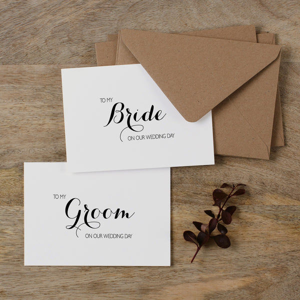 BRIDE AND GROOM CARDS - audrey