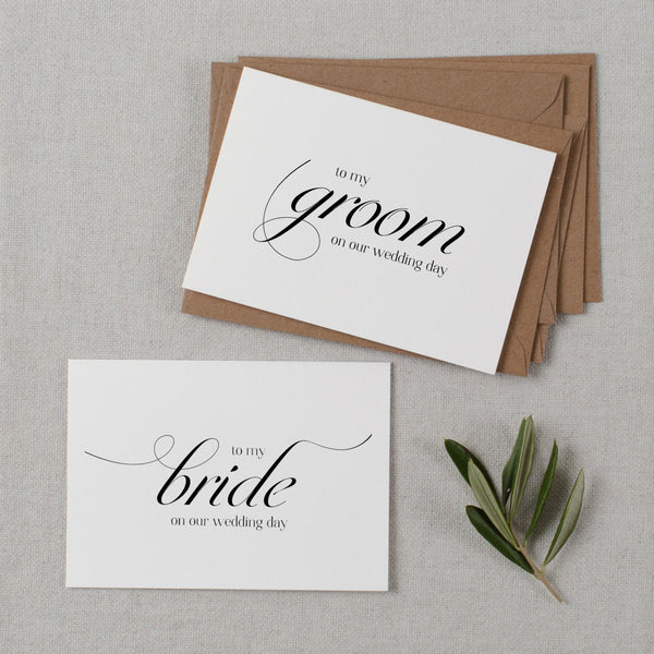 BRIDE AND GROOM CARDS - dorothy