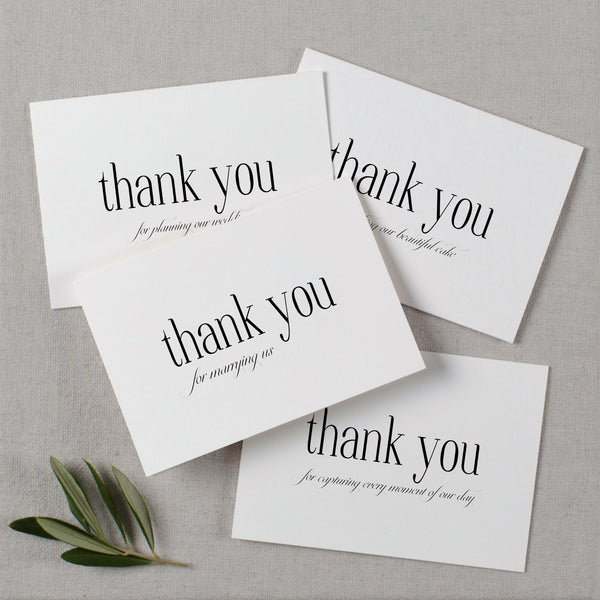 WEDDING VENDOR THANK YOU CARDS - edith