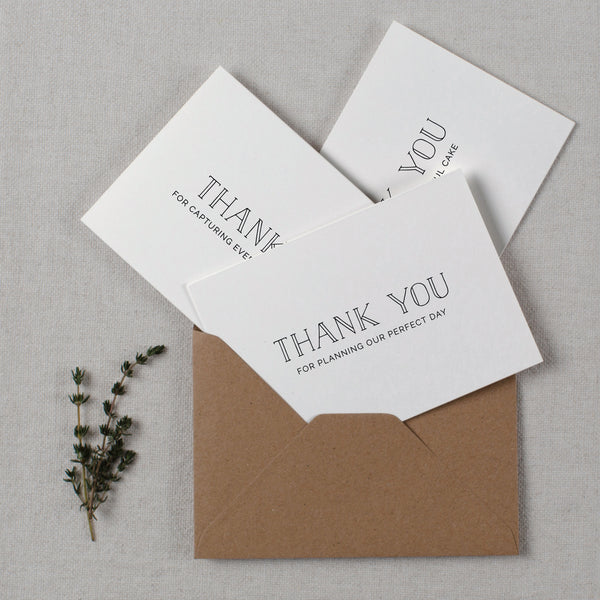 WEDDING VENDOR THANK YOU CARDS - matilda