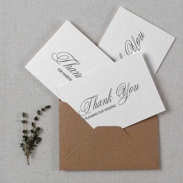 WEDDING VENDOR THANK YOU CARDS - rose