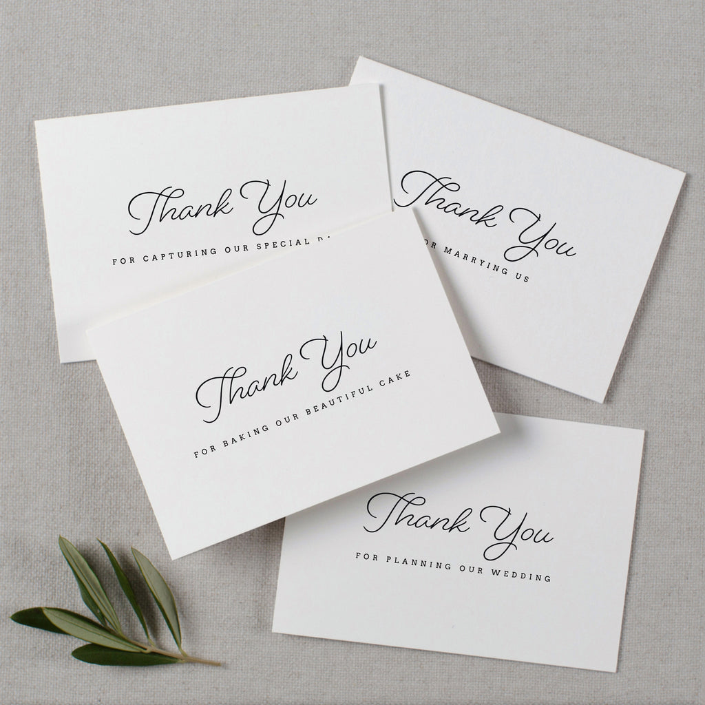 WEDDING VENDOR THANK YOU CARDS - madeleine