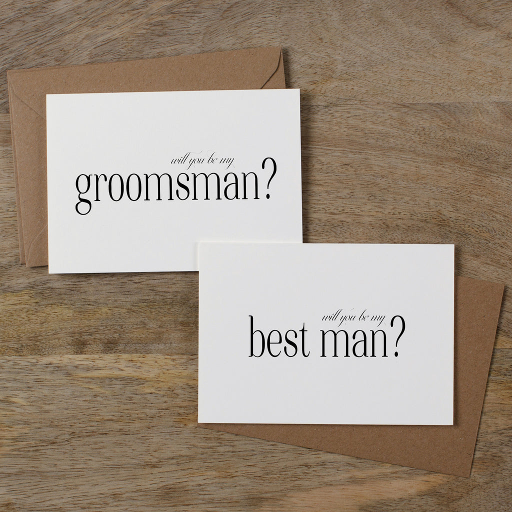 WILL YOU BE MY BEST MAN CARD-A6 WITH CHOICE OF ENVELOPE COLOUR