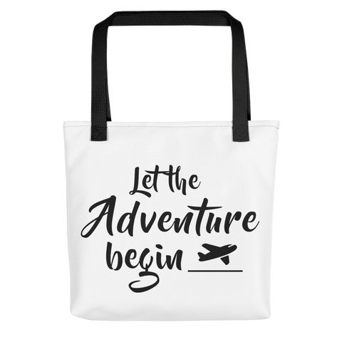 Adventure (Black) - Tote bag
